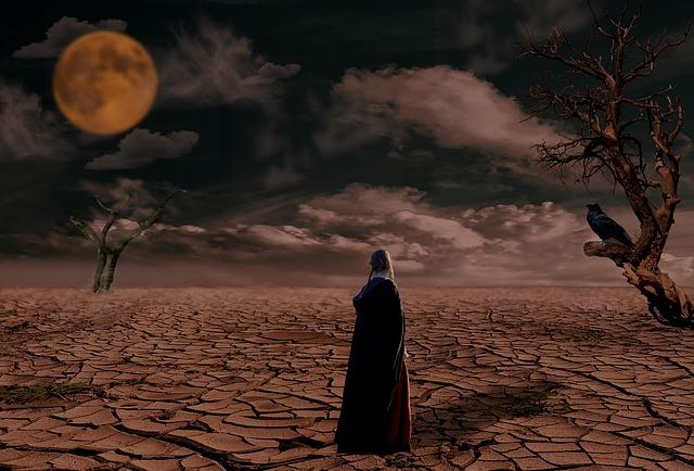 měsíc nad pouští